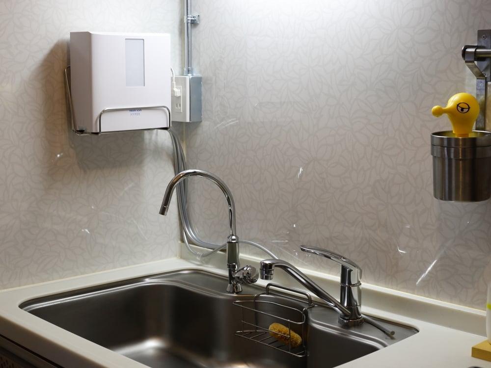 浄水器設置後のキッチン