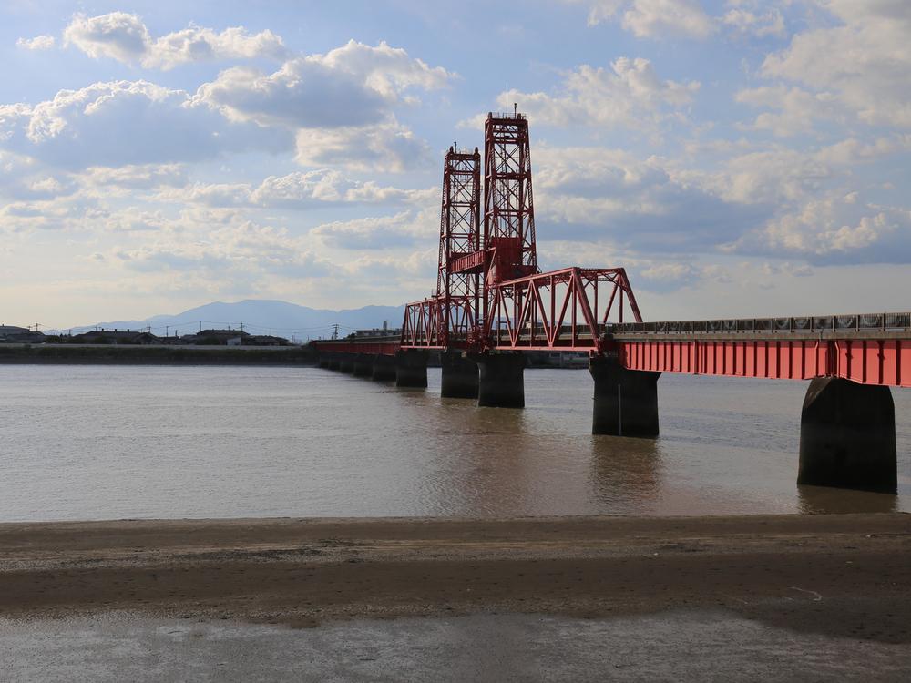 柳川の近くにある筑後川昇開橋