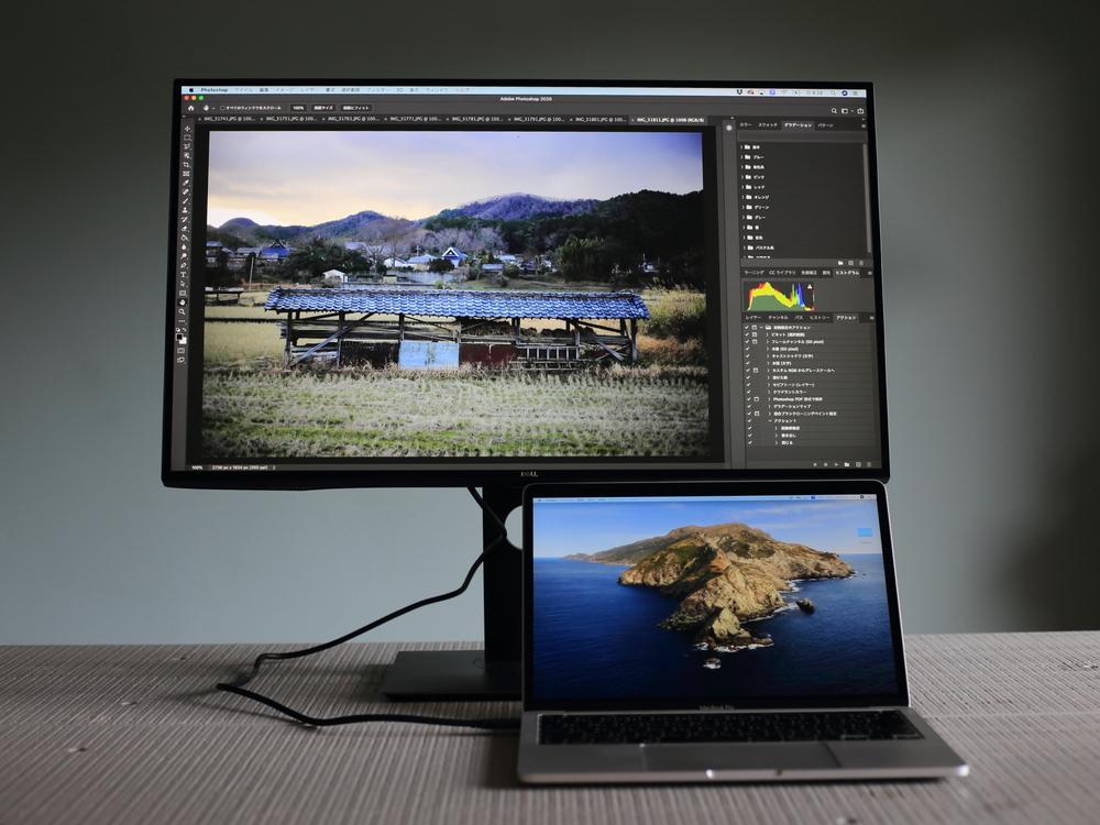 Dell4Kモニター27インチとMacBookPro