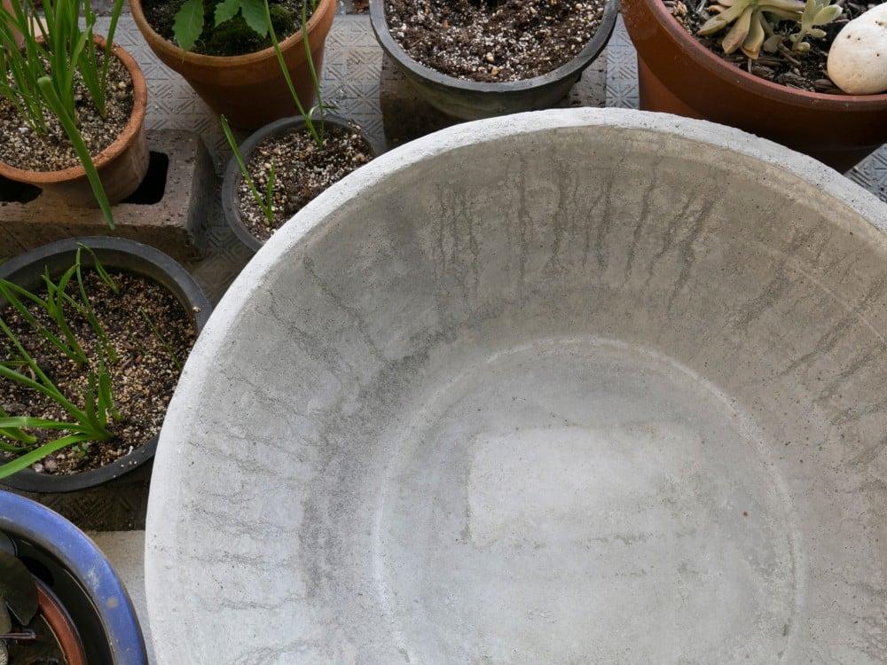 モルタルの鉢を上から見たところ