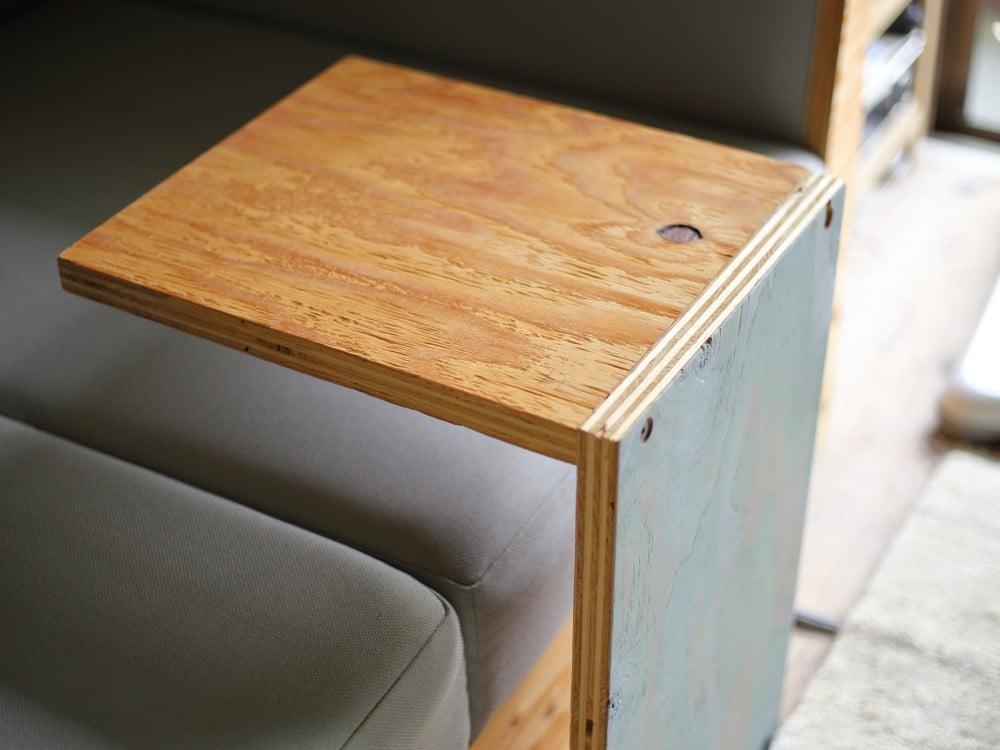 コの字の家具を横にして使う