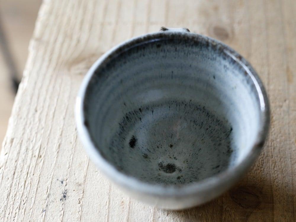 小代瑞穂窯のコーヒーカップ(上から)