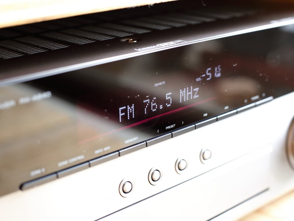 AVアンプ ヤマハ RX-A840の前面ディスプレイ