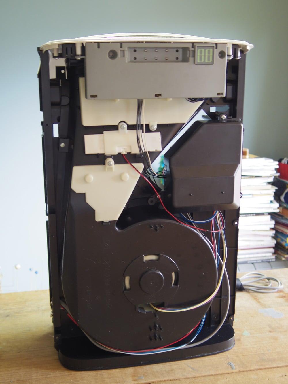空気洗浄器の前面