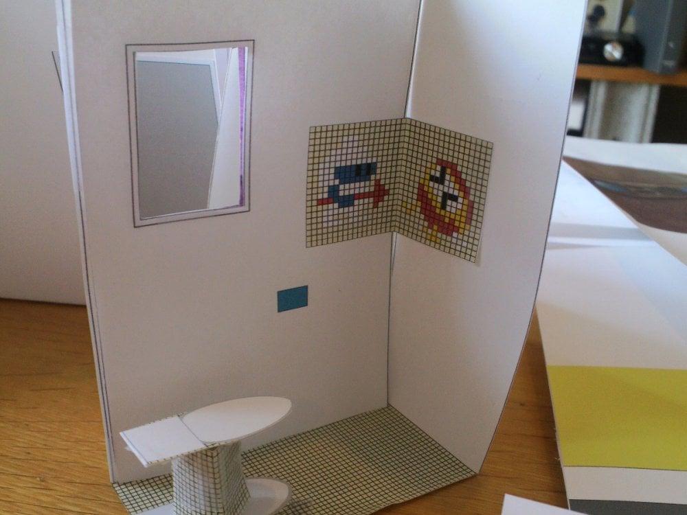 トイレの10分の1の模型