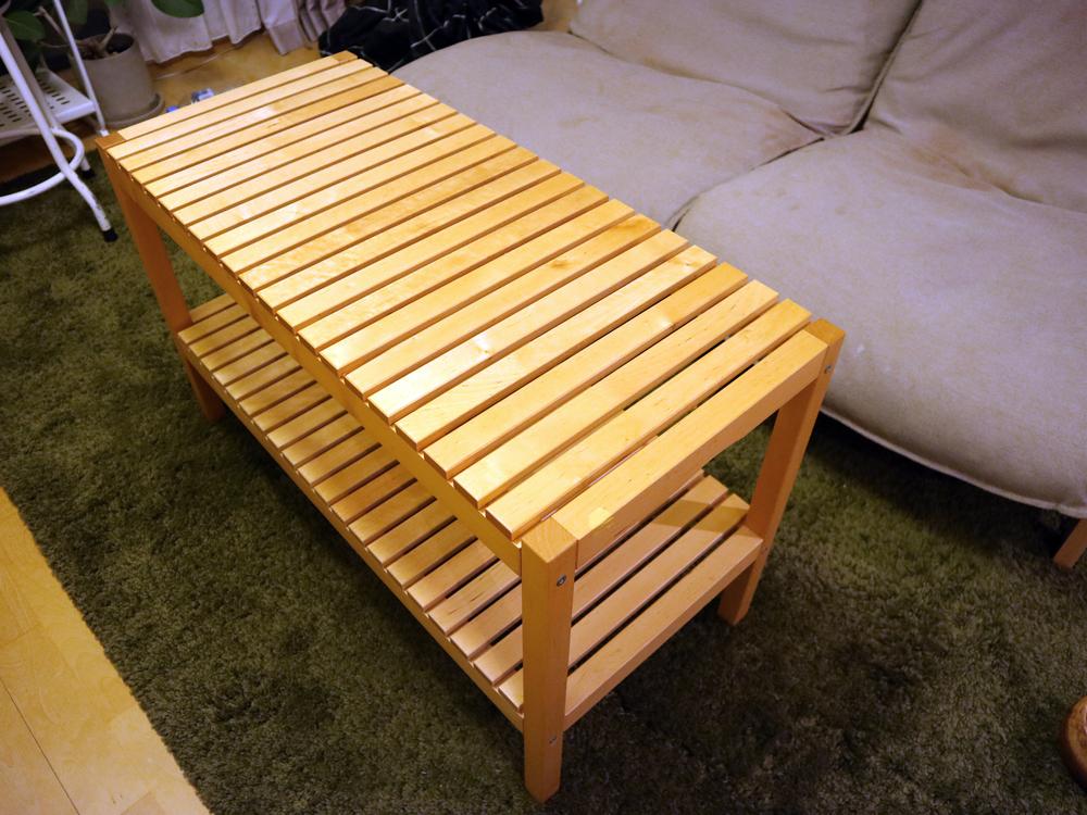 IKEAのMOLGER(モルゲル)ベンチ