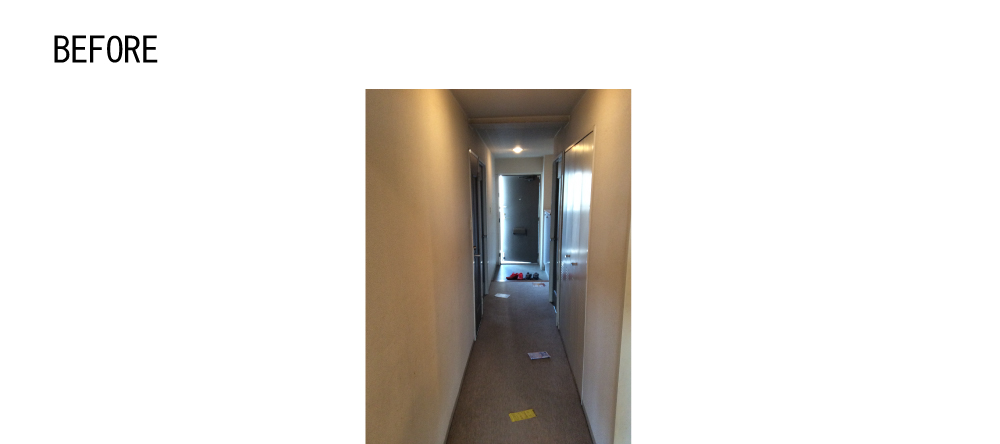 玄関の先に廊下が続く一般的なプランでした。