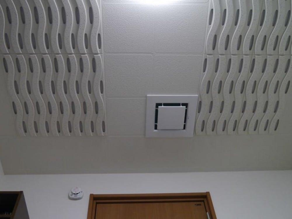 天井ですこの組み合わせが吸音しつつ上手い事音を響かせてくれる