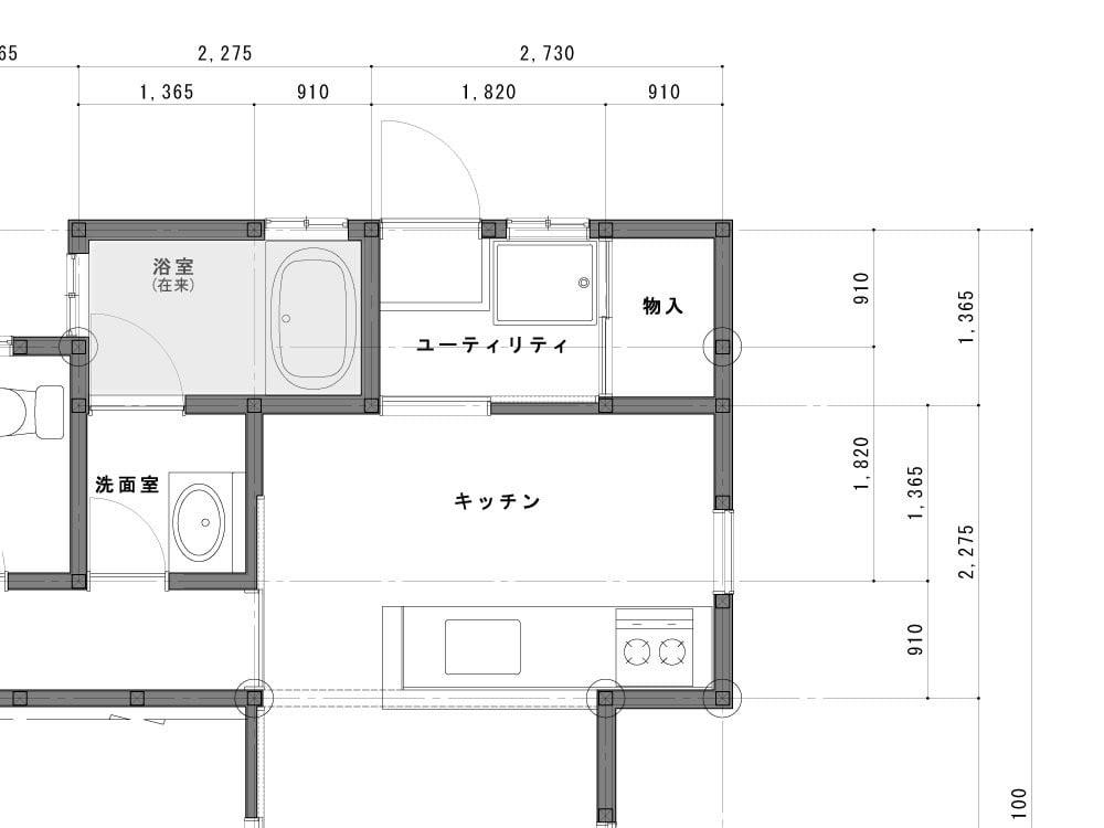 浴室のBefore図面