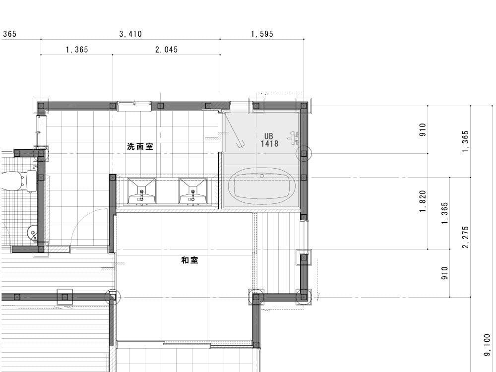 浴室のAfter図面