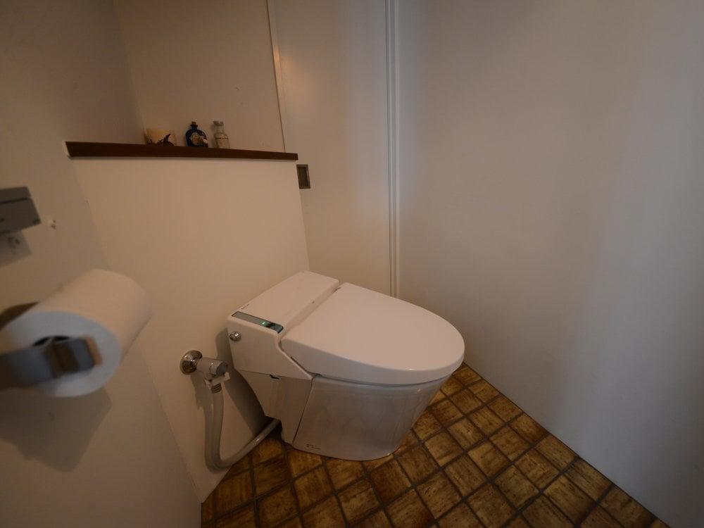 斜め置きのレイアウトのトイレ