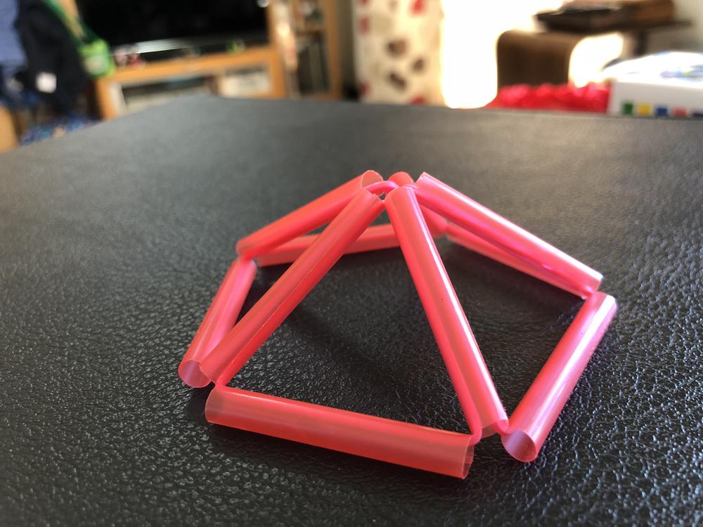 5角形の片面のできあがり