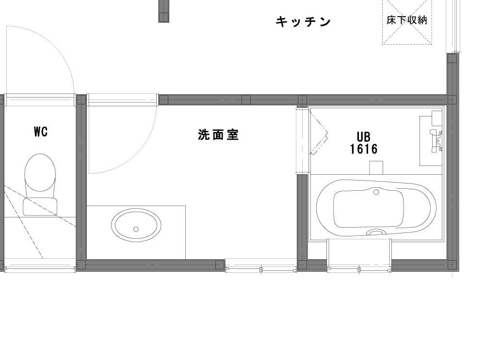 洗面室のBefore図面