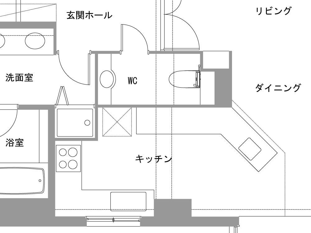 Before図面(キッチンスペース)