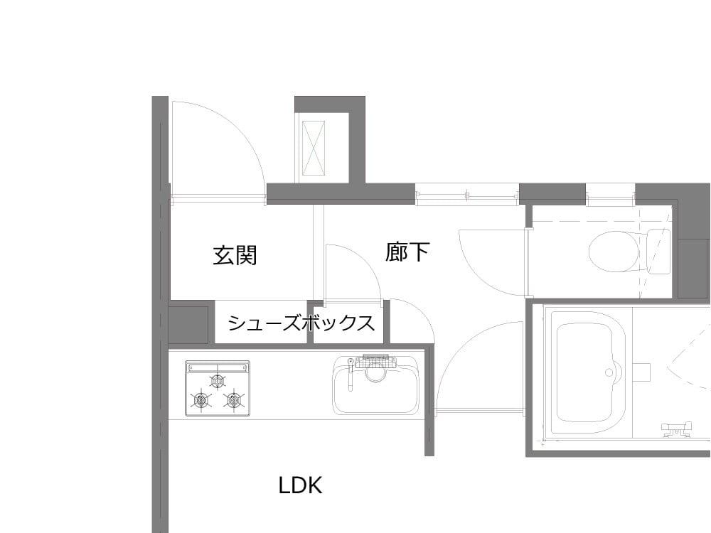 玄関のBefore図面