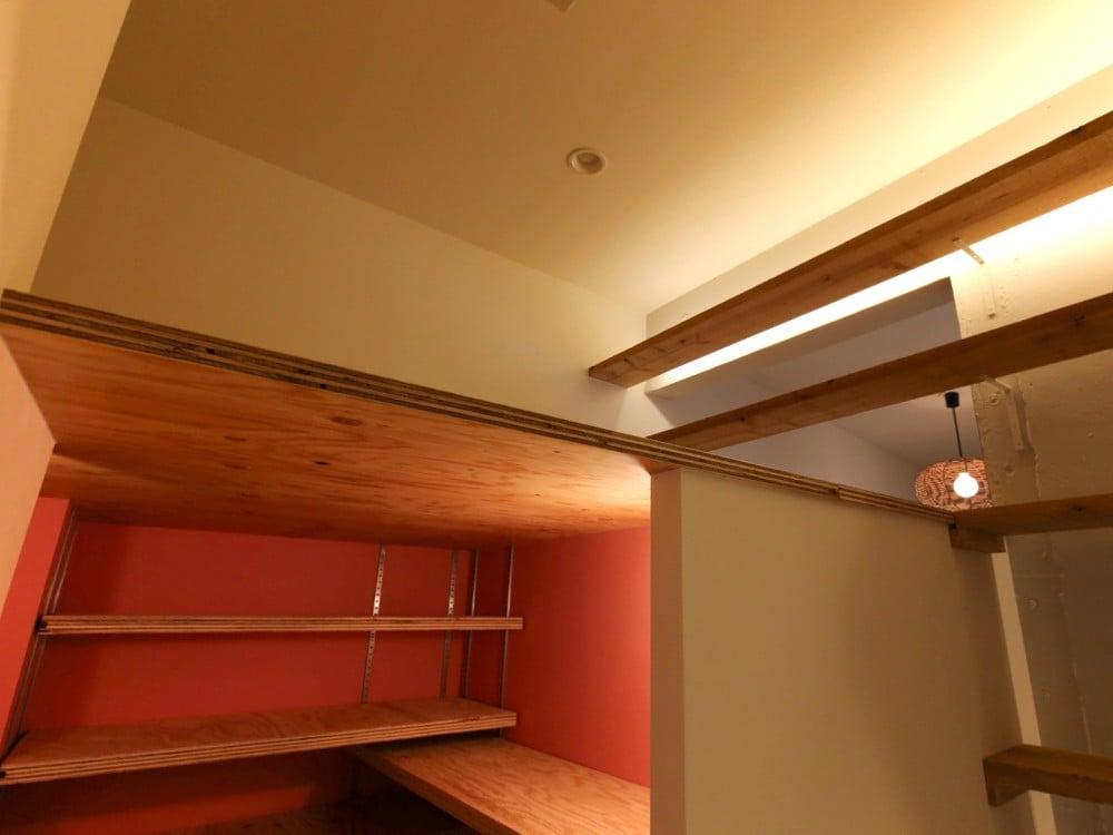 天井裏スペースをロフトにリノベーション
