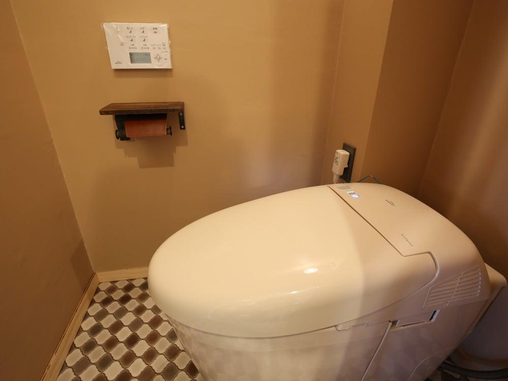 最近のトイレでは珍しい、丸みを帯びたカタチ