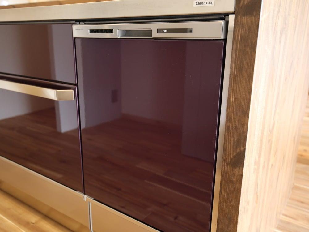 クリナップのキッチンにビルトインした食器洗い乾燥機