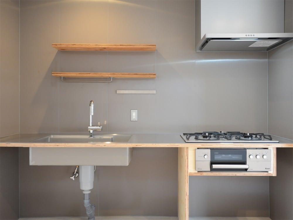 サイズを細かく設定したキッチン