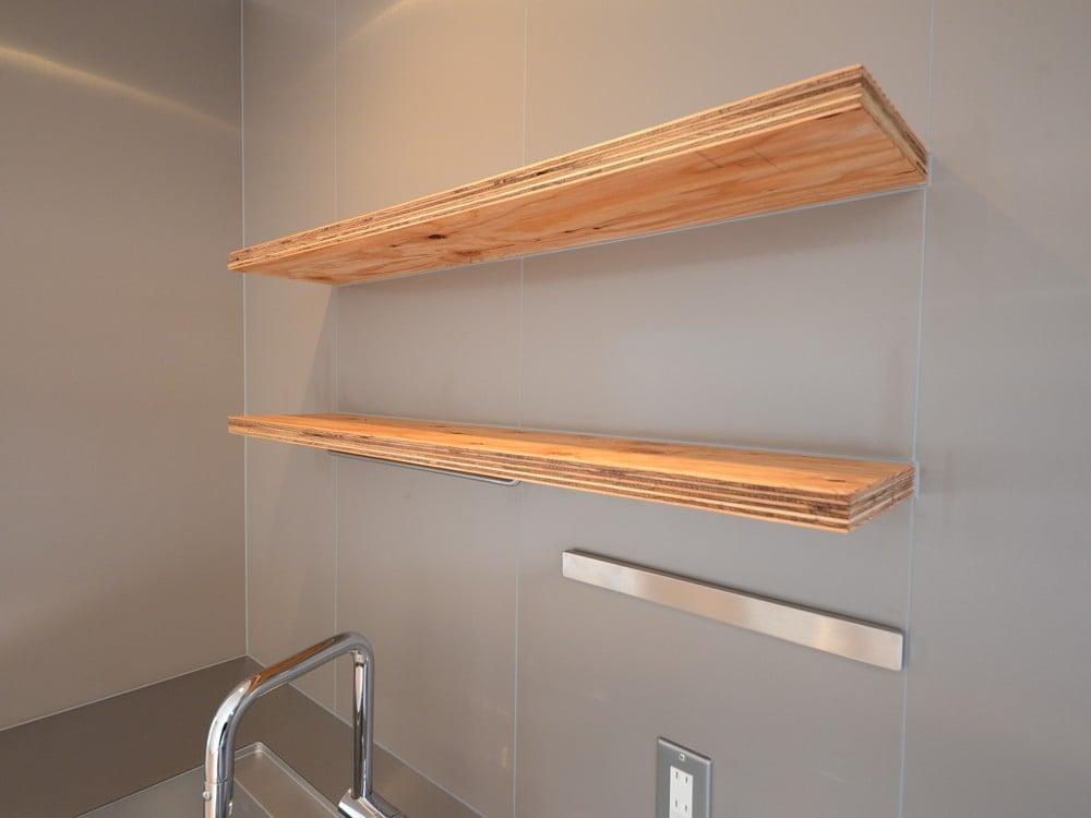構造用合板の棚