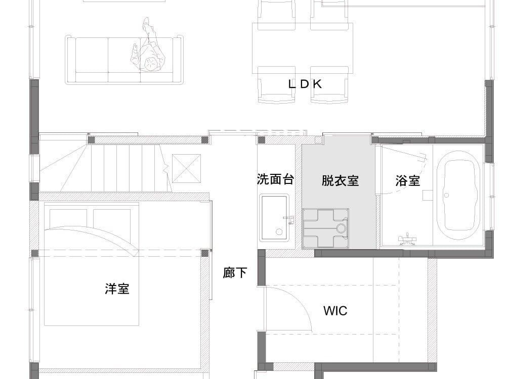 洗面室のAfter図面