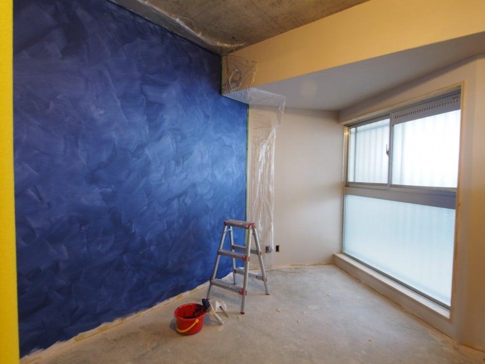 ポーターズペイント、一度塗りの壁