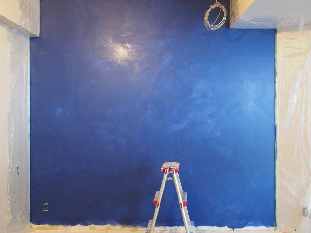 ポーターズペイント、二度塗りの壁