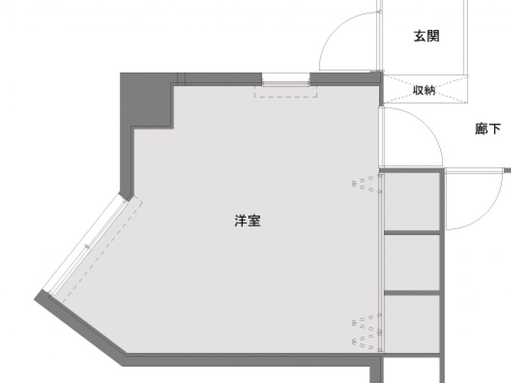 洋室のBefore図面