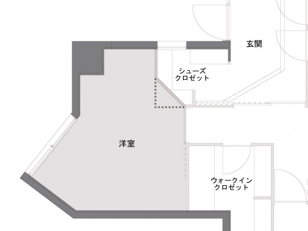 洋室のAfter図面