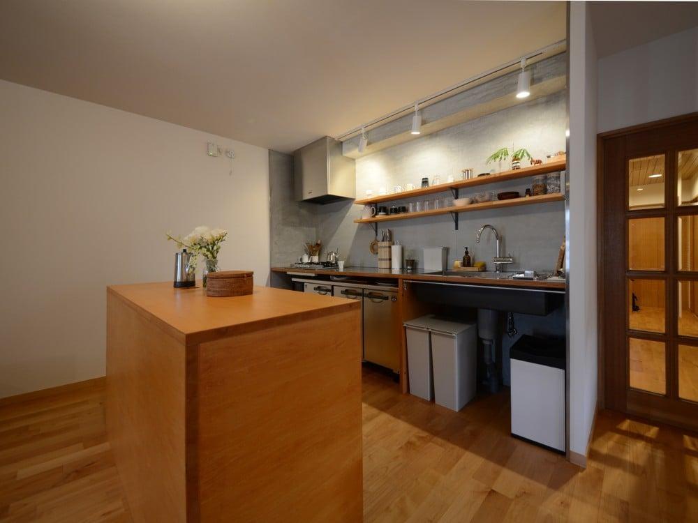 オープンタイプのキッチンスペース
