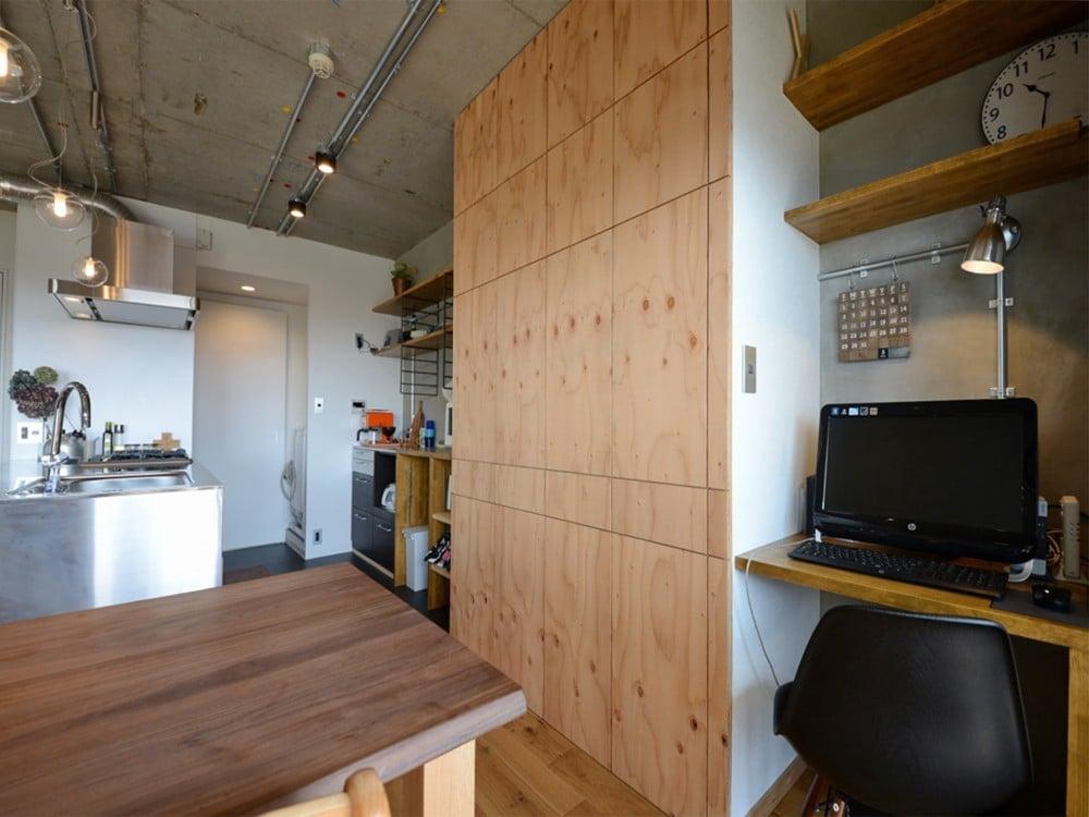キッチンの横にある書斎(PCコーナー)