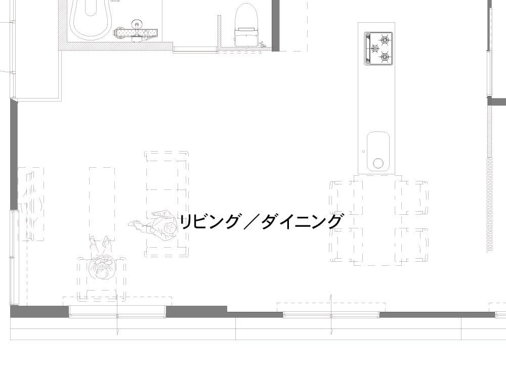 リビングのAfter図面