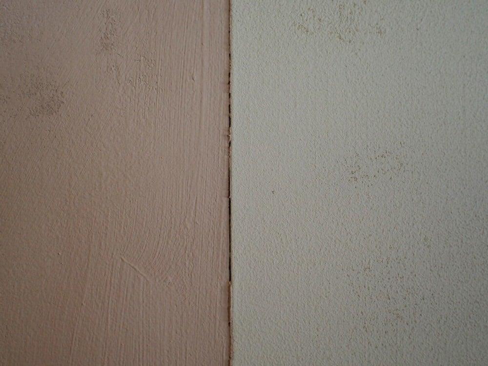 左はHIP漆喰・灰桜