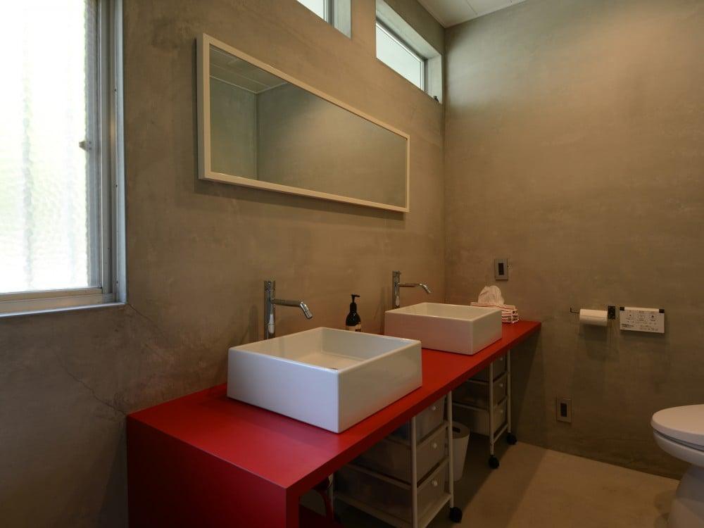 メリハリのある洗面スペース