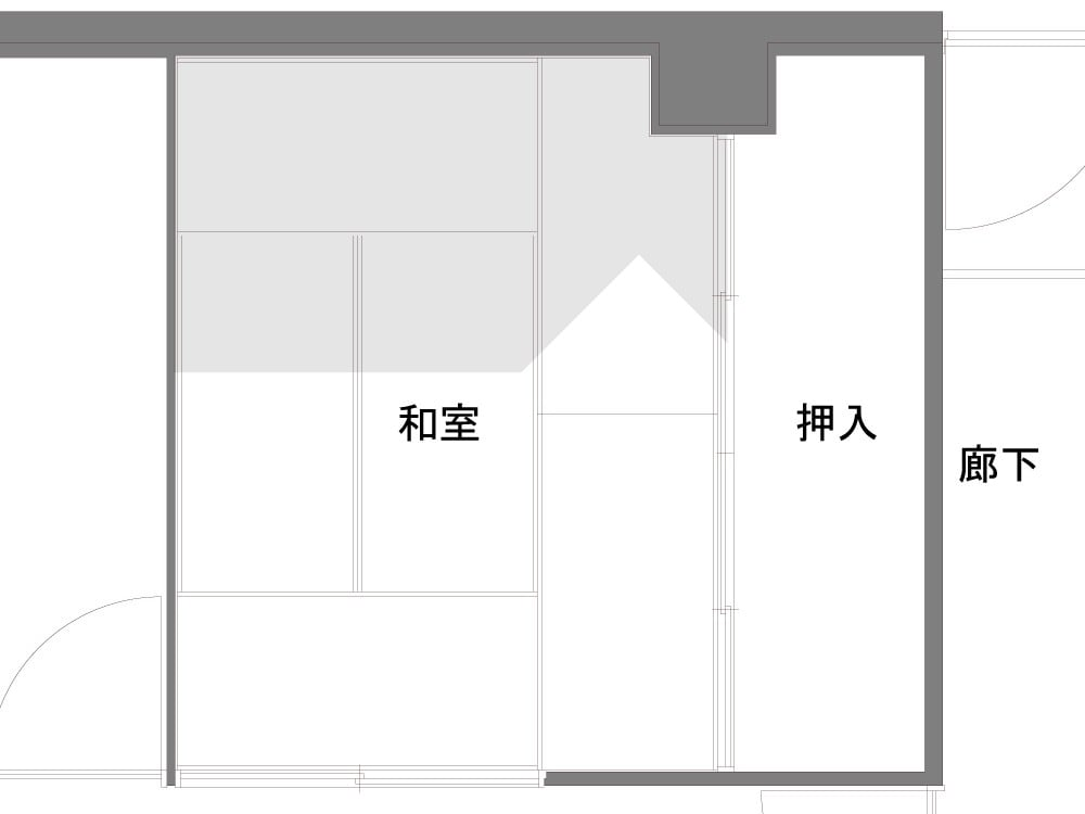 書斎のBefore図面