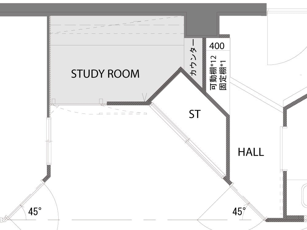 Afterの書斎図面