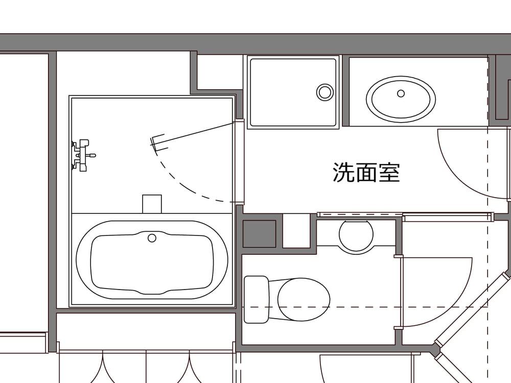 1418サイズだった浴室。