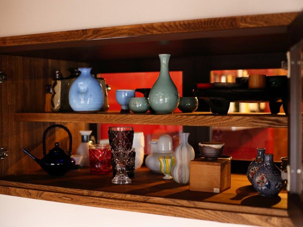 和室とキッチン、両側から使える収納