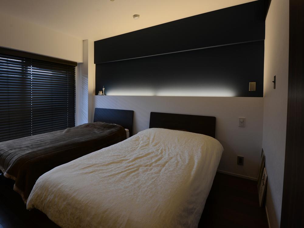 ベッドルームの間接照明